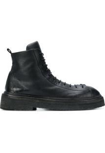 Marsèll Ankle Boot Com Sola Robusta - Preto