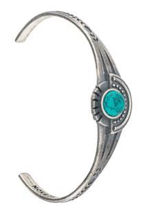 Nove25 Bracelete Com Detalhe De Pedras - Metálico