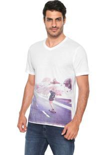 Camiseta Hering Estampada Branca