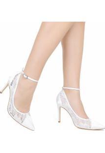 Sapato Zariff Scarpin De Noiva Telha