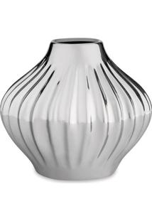 Vaso Metalizado- Prateado- 12Xã˜14,5Cm- Martmart