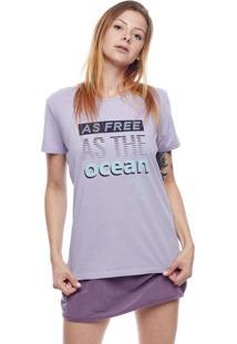 CamisetaFeminina Free As The Ocean Mormaii Lilás