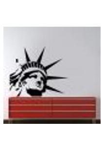 Adesivo De Parede Estátua Da Liberdade Rosto - P 42X50Cm