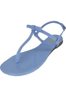Rasteira Dalid Flat Azul