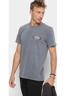Camiseta Redley Reggae Records Estampa Costas Masculina - Masculino