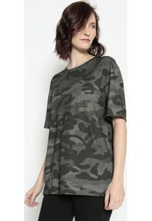 Camiseta Camuflada - Verde Escuro & Verdeosklen