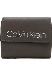Carteira Calvin Klein Logo Marrom
