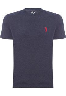 Camiseta Lisa Aleatory Masculina - Masculino-Marinho