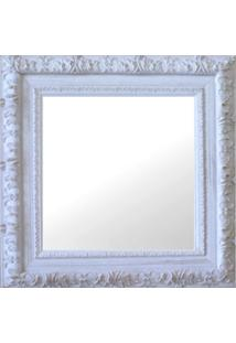 Espelho Moldura Rococó Externo 16276 Branco Patina Art Shop