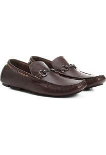 Mocassim Shoestock Fivela Couro Masculino - Masculino