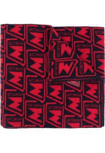 Moncler Cachecol Jacquard Com Estampa De Logo - Vermelho