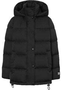 Burberry Monogram Puffer Jacket - Preto