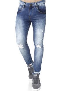 Calça Jeans Cropped Rock&Soda Azul