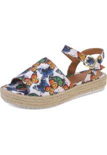 Sandália Mercedita Shoes Borboleta Branca
