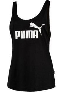 Regata Puma Ess Logo Tank Feminina - Feminino-Preto
