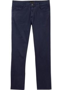 Calça Dudalina Jeans Stretch Five Pockets Masculina (Vinho, 44)
