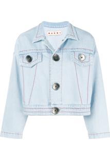 Marni Jaqueta Jeans Cropped - Azul