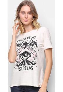 Camiseta T-Shirt Cantão Classic Esotérica Feminina - Feminino-Off White