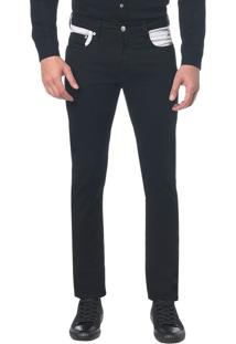 Calça Color Five Pockets Slim - Preto - 38