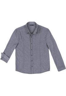 Camisa Masculina Em Tecido Maquinetado De Algodão