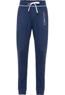 Calça Masculina Suedine Com Bolso - Azul