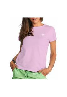 Camiseta Feminina Vaca Lôca - Rosa Com Branco