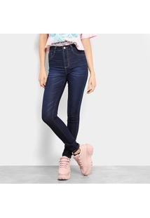 ed92fa8b60 ... Calça Jeans Skinny Sawary Estonada Cintura Média Feminina - Feminino -Azul
