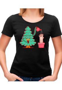 Camiseta Feminina Watering Tree Geek10 - Preto