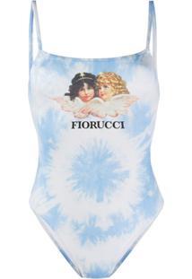 Fiorucci Maiô Angels Tie-Dye - Azul