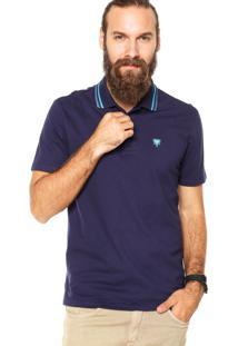 Camisa Polo Cavalera Basic 2 Frisos Azul Marinho