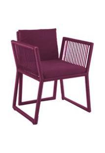 Cadeira De Corda Cottage Bordô