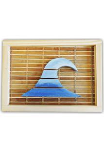 Quadro Decorativo Quilha Prancha Surf Soul Fins Madeira Azul
