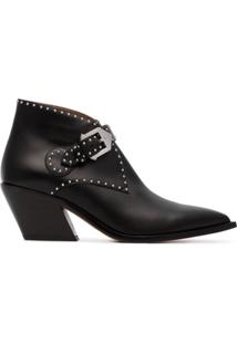 Givenchy Ankle Boots De Couro Com Studs - Preto