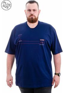 Camiseta Kairon Plus Size Marinho