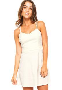 ... Vestido Curto Calvin Klein Jeans Classic Off-White d946b5d3e1