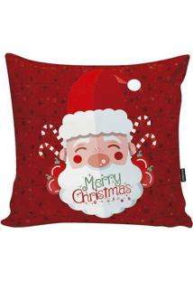Capa De Almofada Papai Noel Com Inscriã§Ã£O- Vermelha & Brstm Home