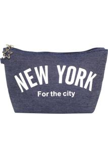 Necessaire Bolsine New York Azul