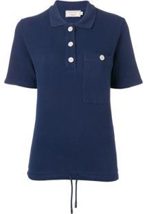 Maison Kitsuné Camisa Polo Com Bolso - Azul