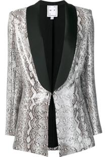 In The Mood For Love Edith Snake Print Blazer - Cinza