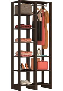 Guarda-Roupa Modulado Closet 104105 - Nova Mobile - Grafite Intenso