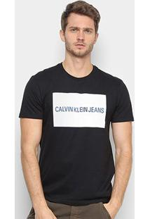 Camiseta Calvin Klein Ckj Masculina - Masculino-Preto
