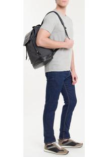Mochila Ckj Masc Mono Flap Backpack 45 - Cinza Médio - U