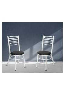 Cadeiras Para Cozinha Pintadas Brancas Lilies Móveis