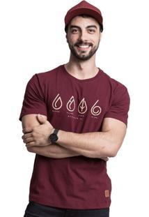 Camiseta Elementos Quatorze 08 Bordô