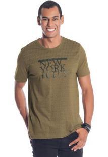 Camisa Com Estampa Em Relevo Marrom Bgo