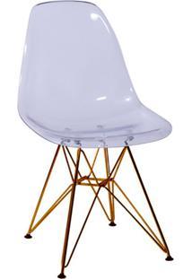 Cadeira Eames Base Cobre Incolor
