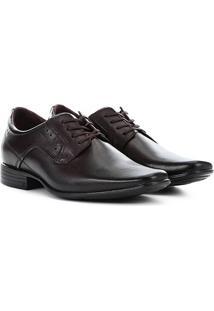 Sapato Social Couro Pegada Clássico Masculino - Masculino-Marrom