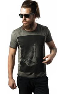 Camiseta Skull Lab King Cinza
