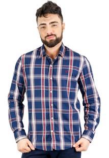 Camisa Norfolk Xadrez Com Bordado - Masculino