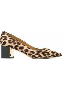 Tory Burch Scarpin Com Animal Print - Marrom